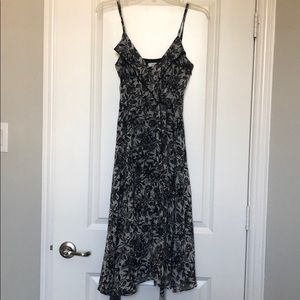 Semi-formal black and white dress